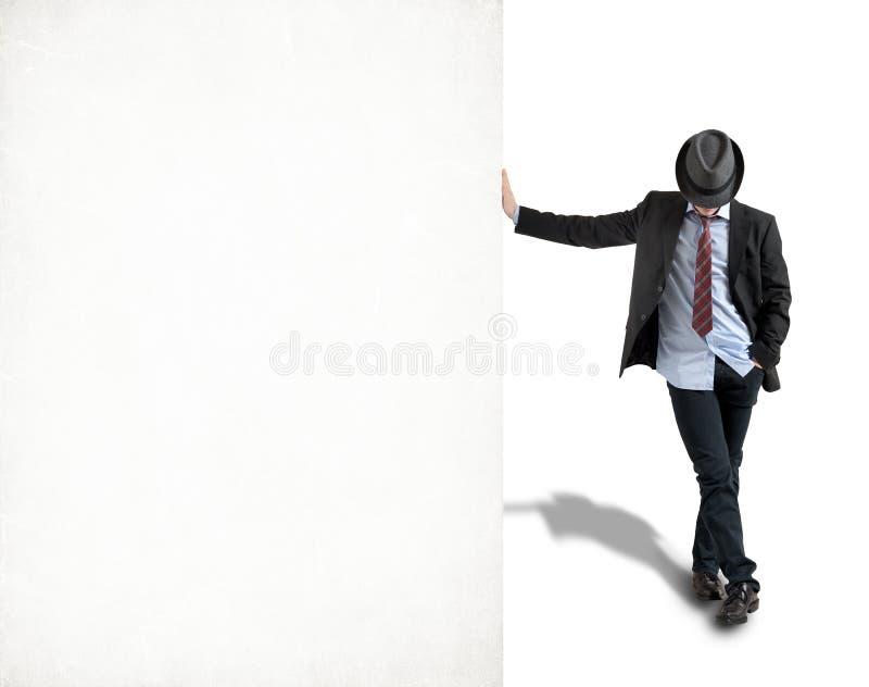 Jonge mens in hoed stock fotografie