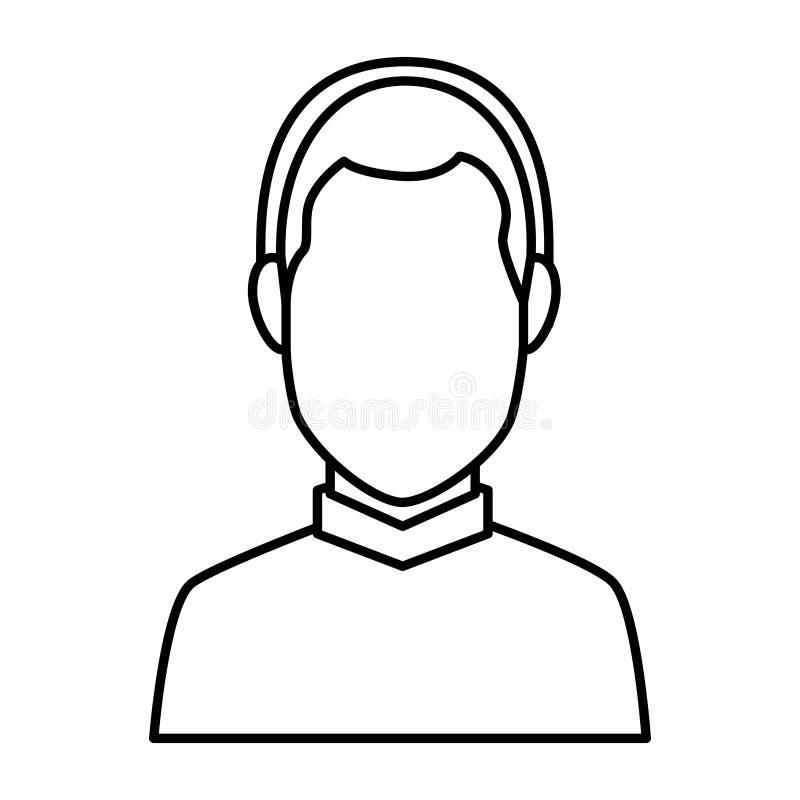 Jonge mens met oortelefoons vector illustratie