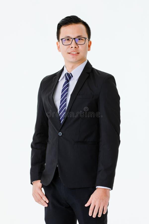 Jonge mens op ge?soleerde witte achtergrond stock fotografie