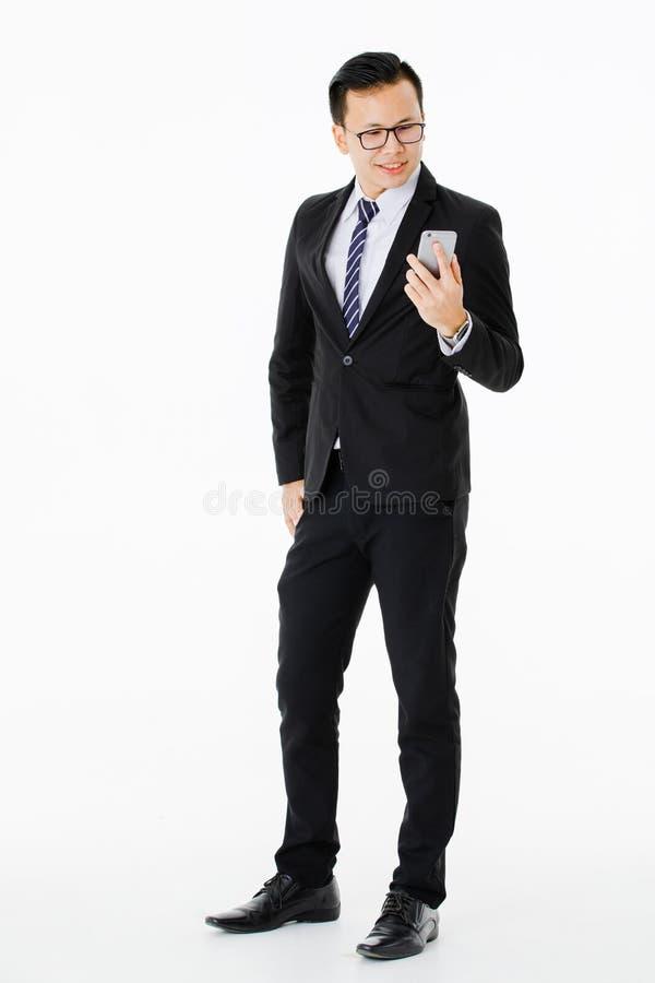 Jonge mens op ge?soleerde witte achtergrond royalty-vrije stock fotografie