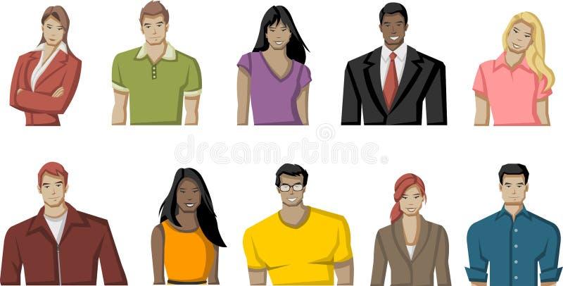 Download Jonge mensen vector illustratie. Illustratie bestaande uit meisje - 54084865
