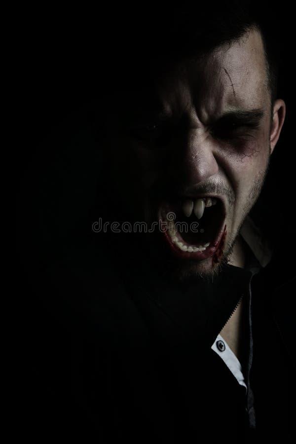 Jonge moderne vampier royalty-vrije stock afbeeldingen