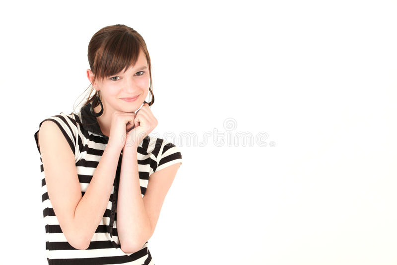 Jonge modieuze tiener royalty-vrije stock foto's