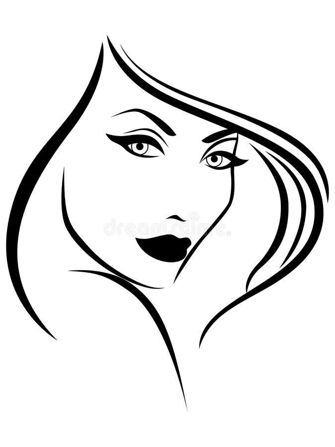 Jonge modieuze vrouw vector illustratie