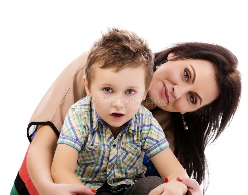 Jonge moeder en zoon royalty-vrije stock fotografie