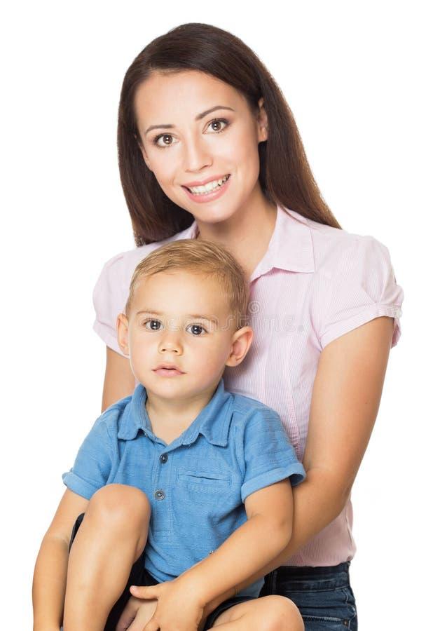 Jonge moeder met haar peuterzoon royalty-vrije stock afbeelding