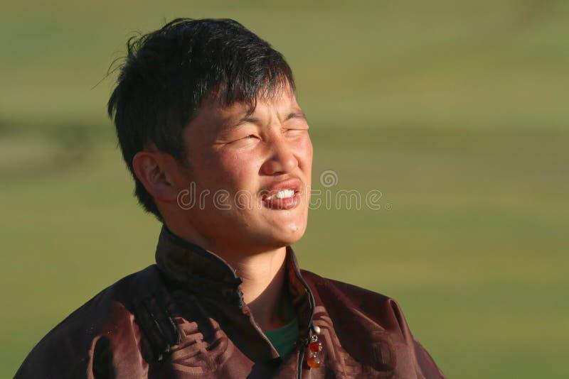 Jonge Mongool bij de dageraad stock foto