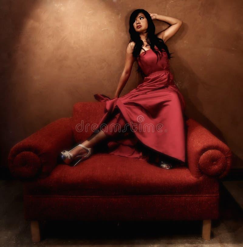 Jonge Mooie Aziatische Vrouw stock foto