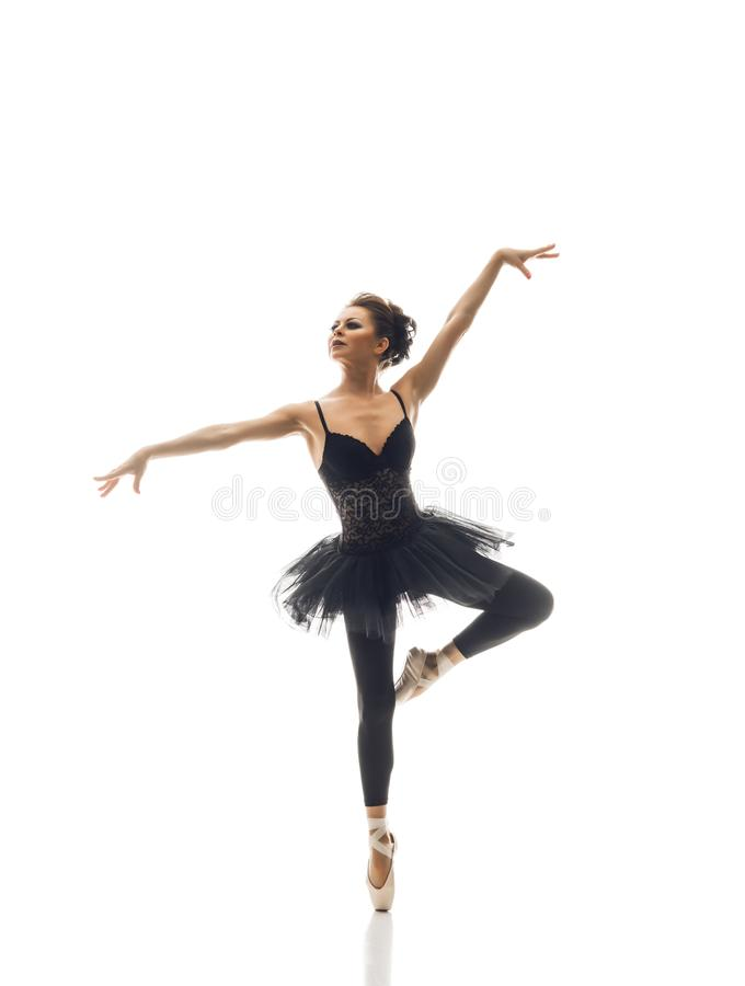 Jonge mooie balletdanser stock afbeeldingen