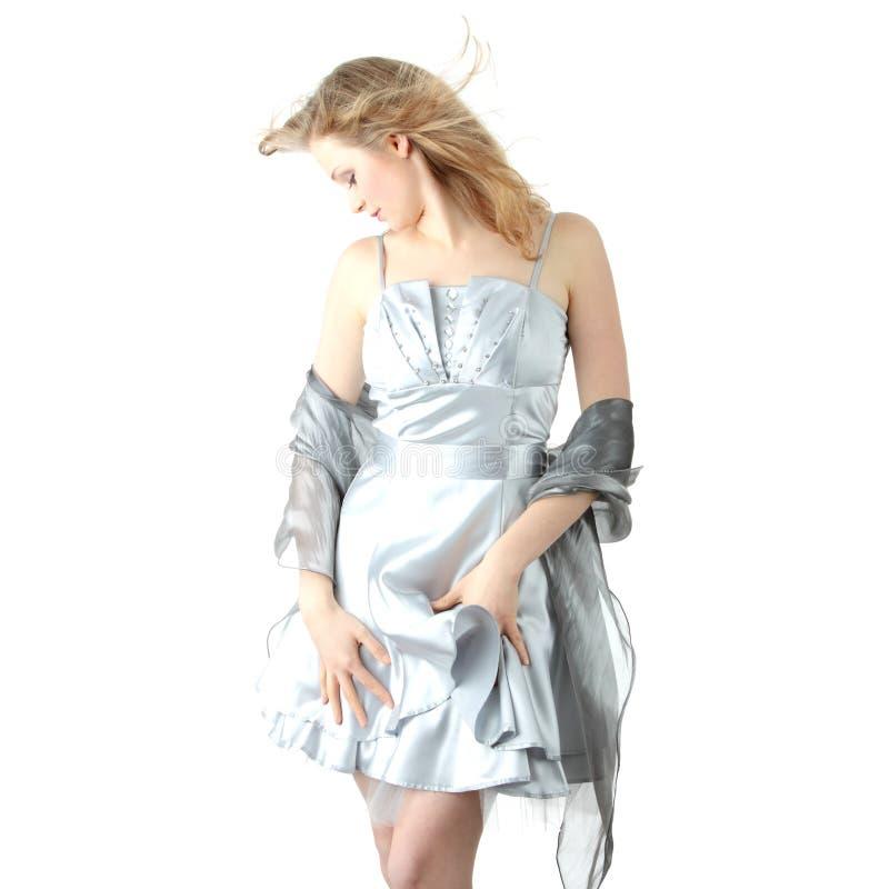 Jonge mooie blonde vrouw royalty-vrije stock afbeeldingen