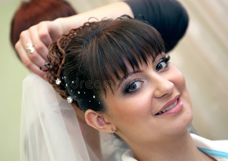 Jonge mooie bruid stock afbeeldingen
