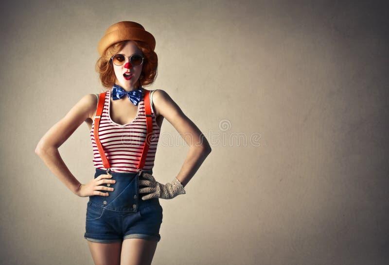 Jonge mooie clown stock afbeeldingen