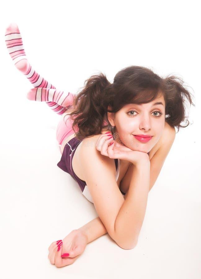 Download Jonge Mooie Vrouw In Geschiktheid Stock Foto - Afbeelding bestaande uit ballet, lijn: 10784154