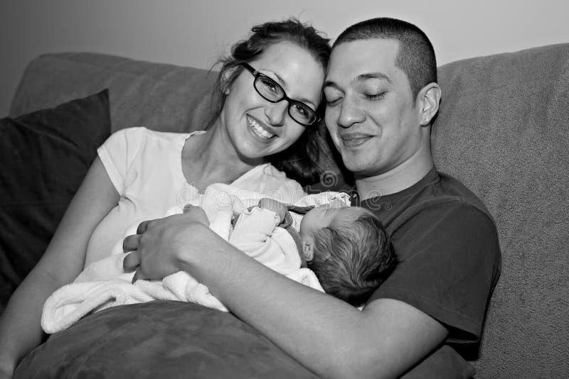 Jonge multi-racial familie stock foto