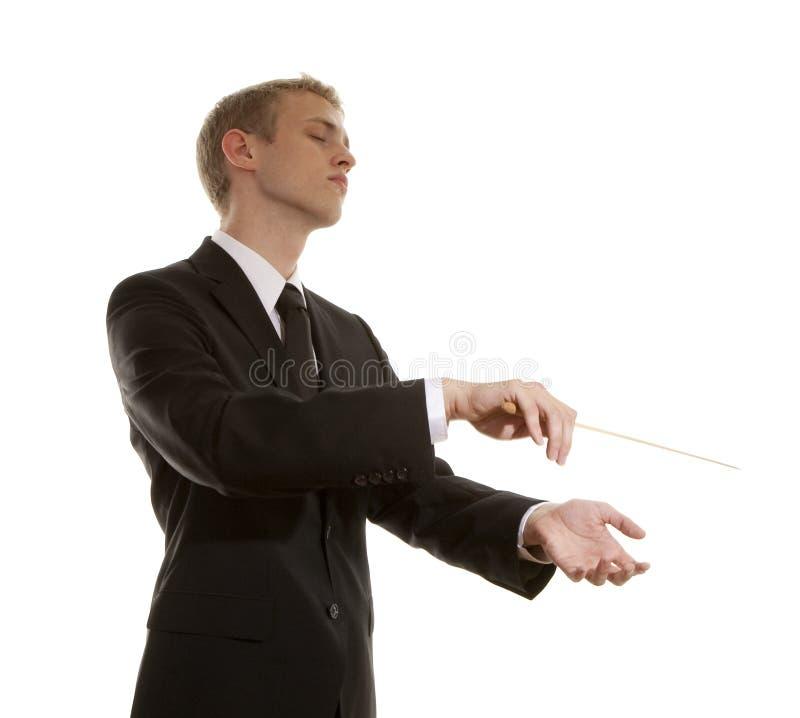 Jonge muzikale leider royalty-vrije stock foto