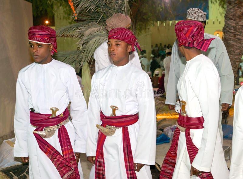 Jonge Omani Mensen royalty-vrije stock afbeelding
