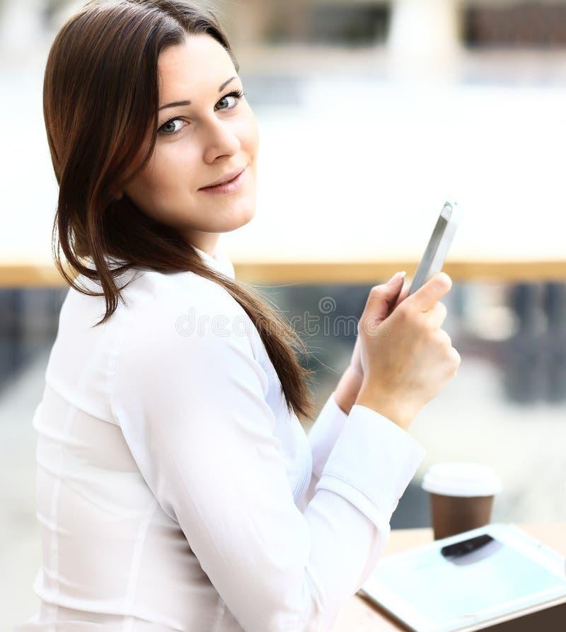 Download Jonge Onderneemster Die Tabletcomputer Met Behulp Van Stock Afbeelding - Afbeelding bestaande uit baan, brunette: 39111913