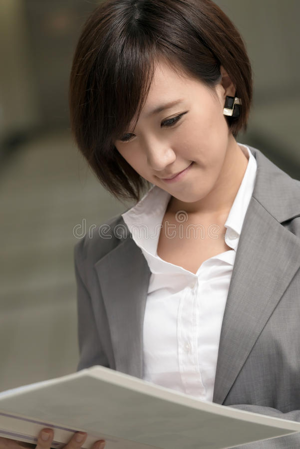 Jonge onderneemster van Aziaat royalty-vrije stock foto