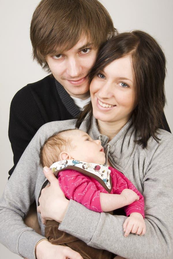 Jonge ouders royalty-vrije stock fotografie