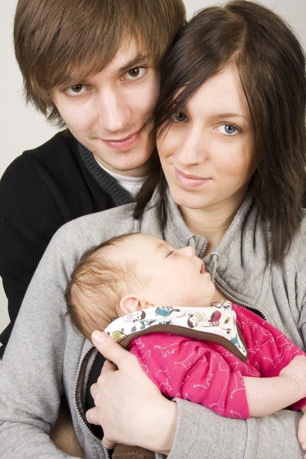 Jonge ouders royalty-vrije stock foto's