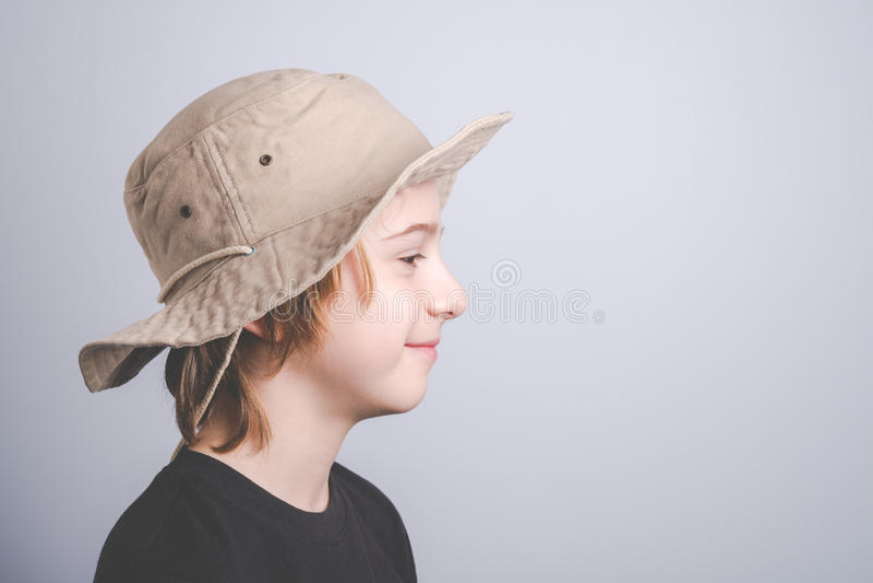 Jonge padvinder het glimlachen portrai stock fotografie