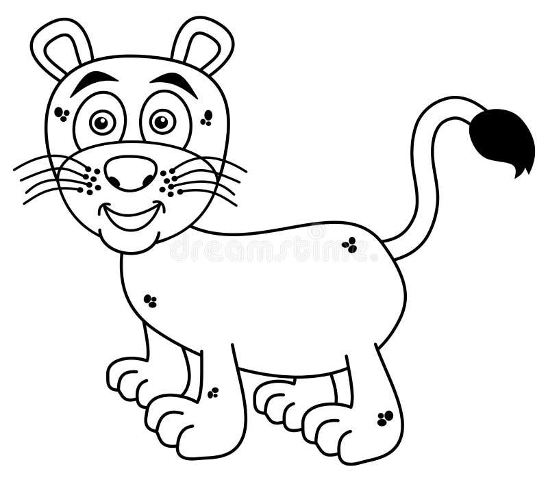 Jonge panter die voor het kleuren glimlachen royalty-vrije illustratie