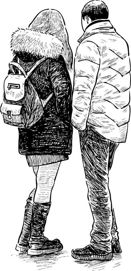 Jonge personen stock illustratie