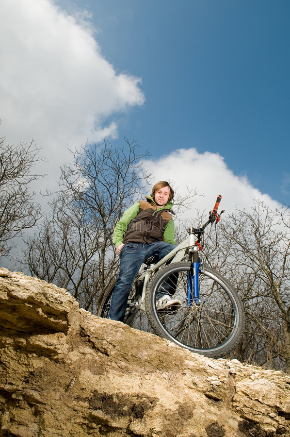 Jonge personenvervoerfiets royalty-vrije stock fotografie