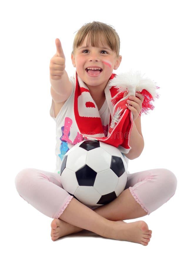 Jonge Poolse voetbalventilator stock foto