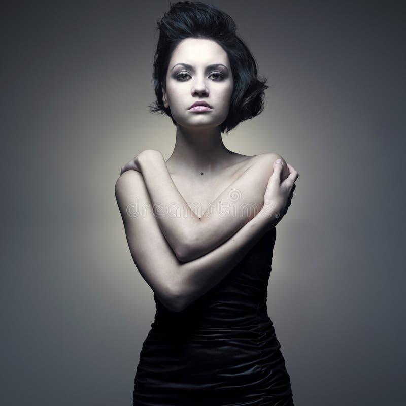 Jonge prachtige dame royalty-vrije stock afbeelding