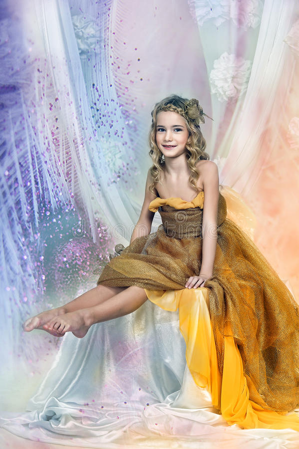 Jonge prinses royalty-vrije stock afbeelding