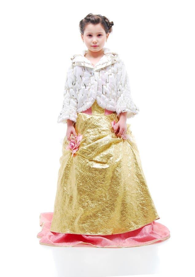 Jonge Prinses. Meisje in Avondjurk royalty-vrije stock afbeelding