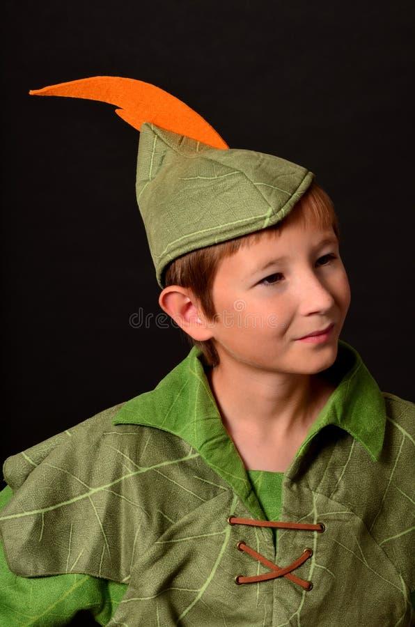 Jonge Robin Hood stock foto