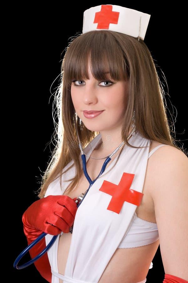 Jonge sexy verpleegster stock foto's