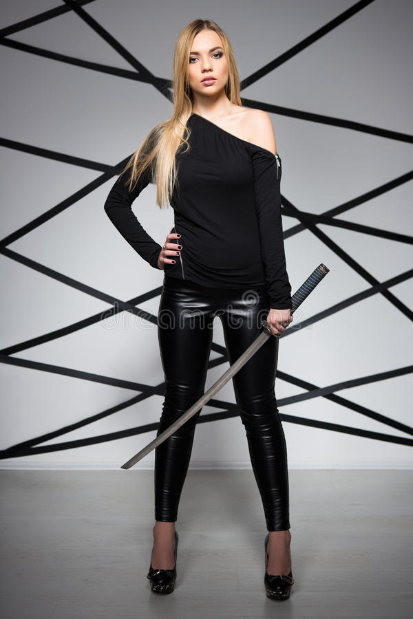 Jonge Sexy Vrouw royalty-vrije stock afbeelding