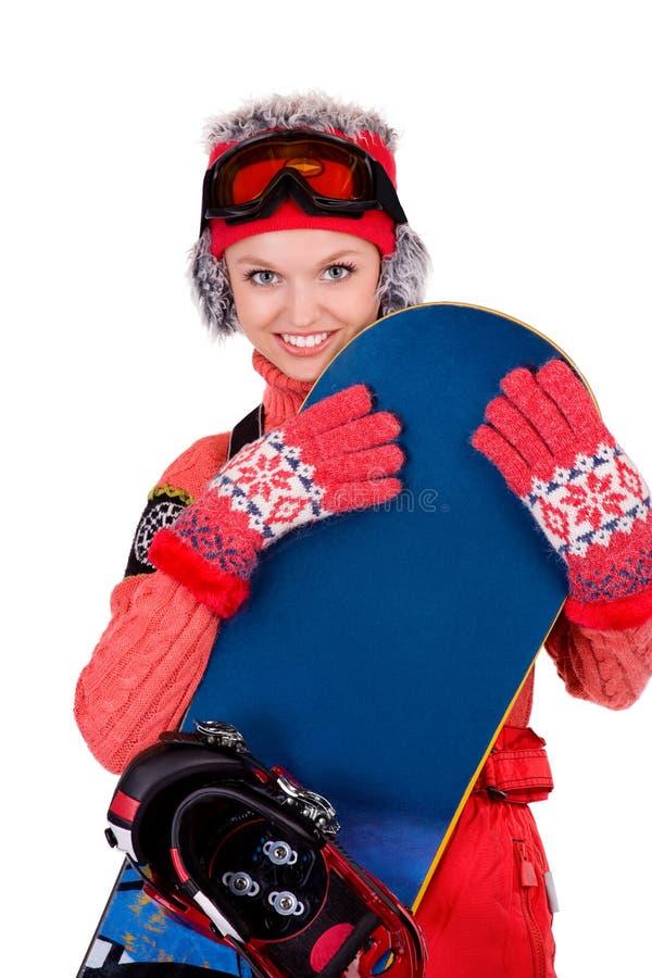 Jonge snowboarder royalty-vrije stock fotografie