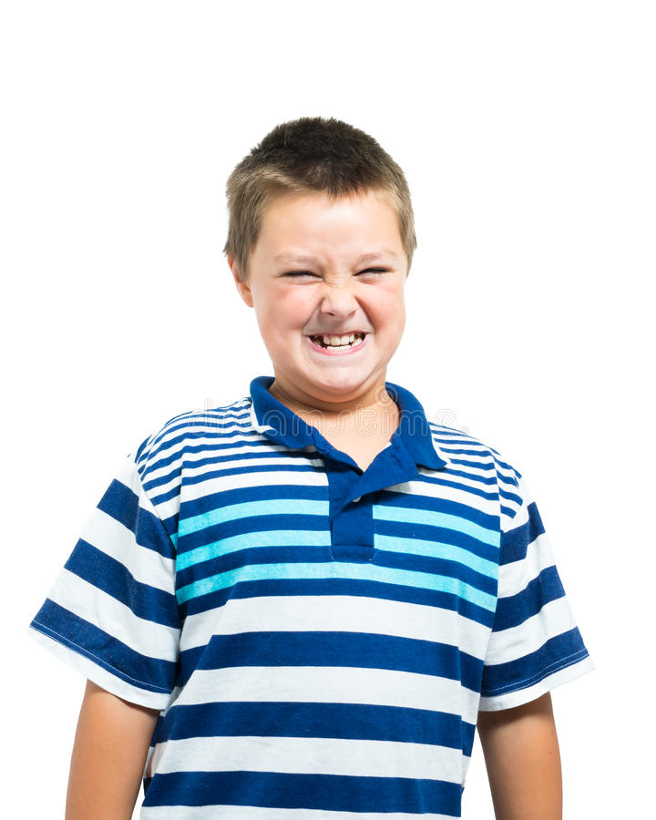 Jonge Spaans-Amerikaanse Jongens Knarsende Tanden stock foto's