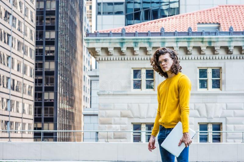 Jonge Spaanse Amerikaanse Student Studying in New York CIT royalty-vrije stock fotografie