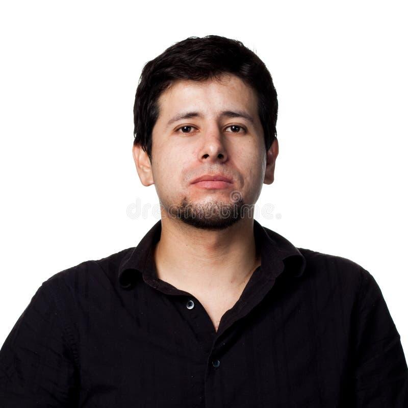 Jonge Spaanse mens stock foto