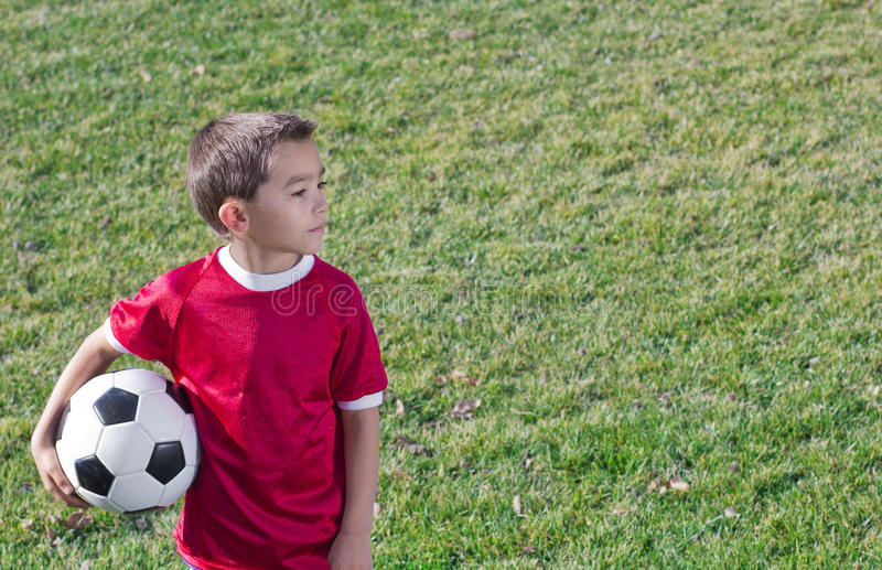 Jonge Spaanse Voetballer stock foto