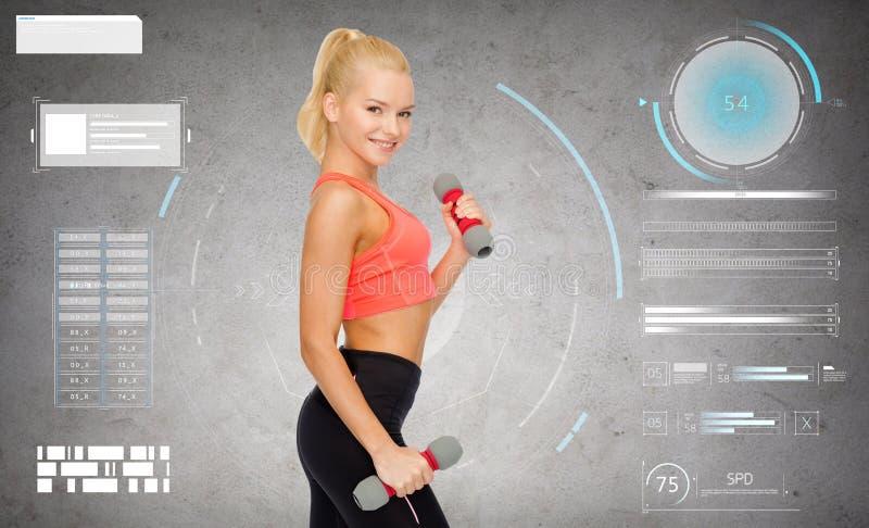 Jonge sportieve vrouw met lichte domoren royalty-vrije stock foto's