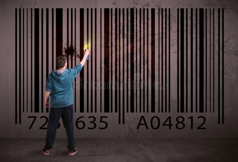 Download Jonge Stedelijke Schilderstekening Stock Foto - Afbeelding bestaande uit kunstenaar, kerel: 54090036