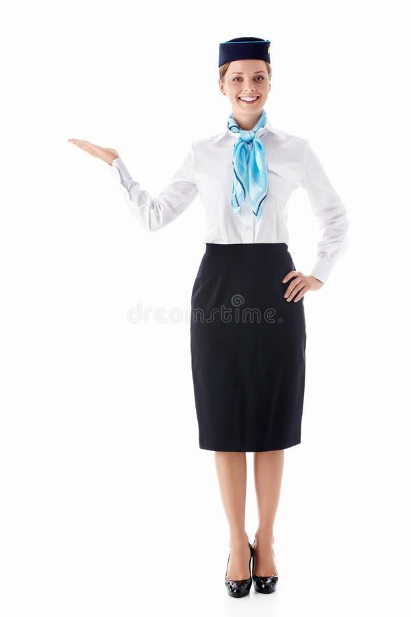 Jonge stewardess royalty-vrije stock foto's