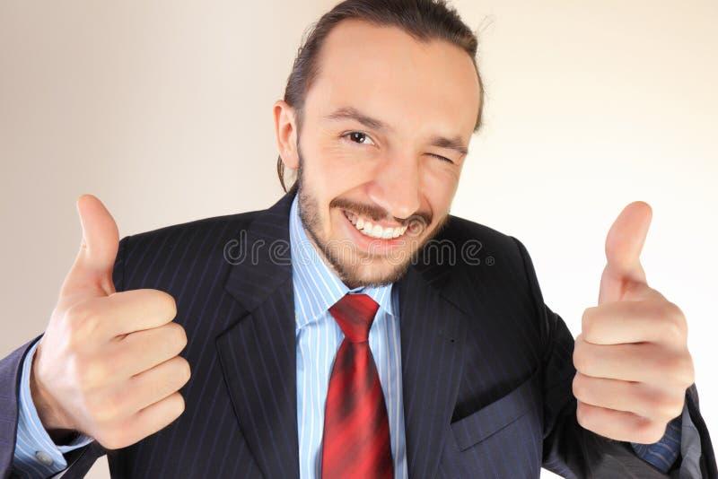 Jonge succesvolle bedrijfspersoon stock foto's