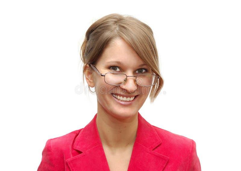 Jonge succesvolle vrouw stock foto