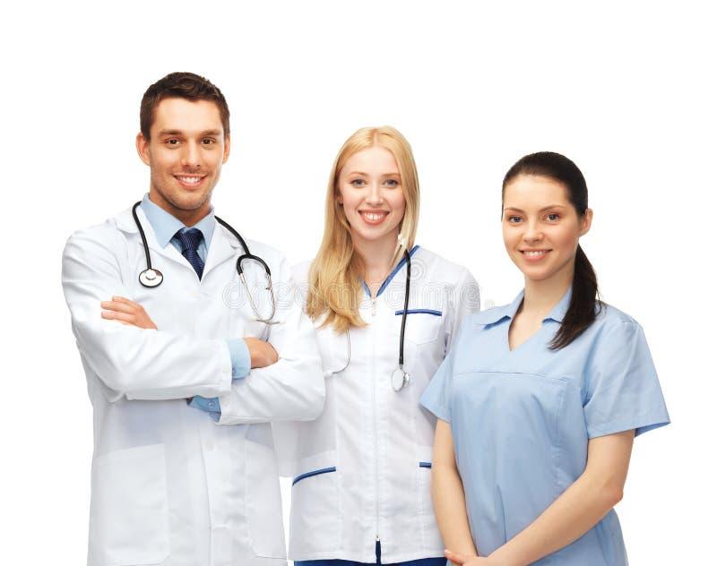 Jonge team of groep artsen stock foto's