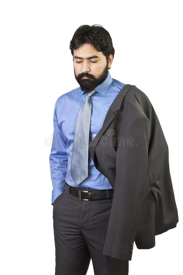 Jonge teneergeslagen zakenman stock afbeelding