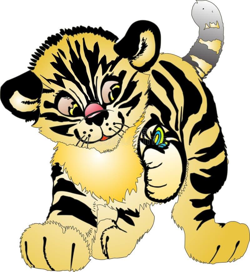 Jonge tijger vector illustratie