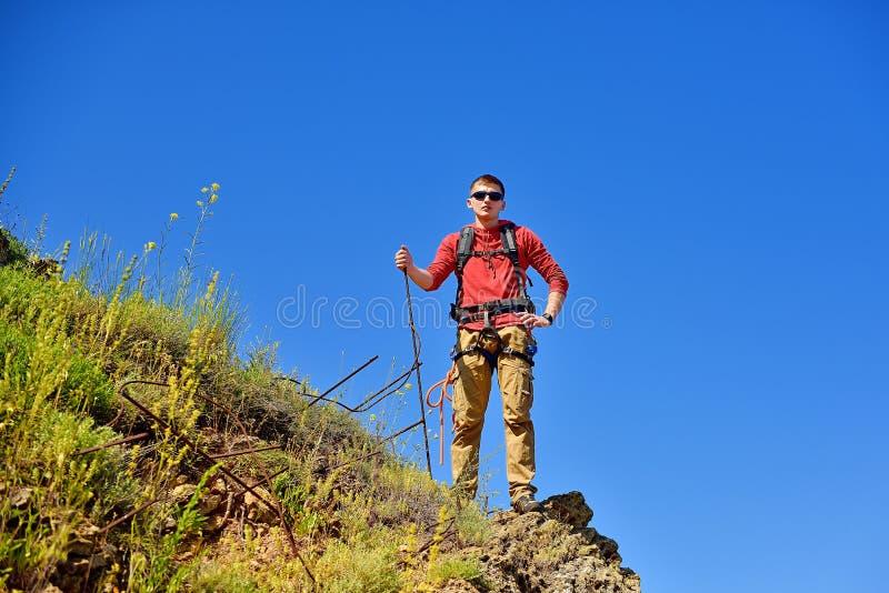 Jonge toerist stock fotografie