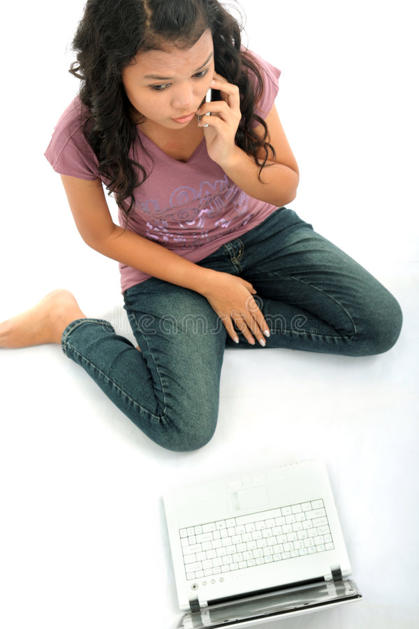 Jonge toevallige vrouw stock afbeelding